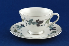 Royal Doulton Burgundy Tea Coffee Cup & Saucer TC1001 China - $7.50