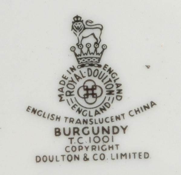 Royal Doulton Burgundy Tea Coffee Cup & Saucer TC1001 China