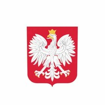 Poland Polish Coat of Arms Bumper Window Vinyl Sticker Car Decal 8.2CM*10CM - $5.99