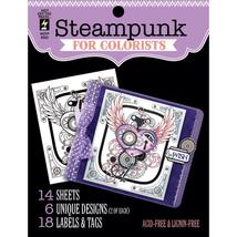Steampunk Hot Off The Press Colorist Coloring Book 5x6  - $6.00