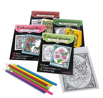 Butterflies Hot Off The Press Colorist Coloring Book 5x6