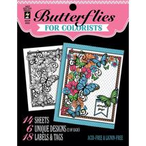 Butterflies Hot Off The Press Colorist Coloring Book 5x6  - $6.00
