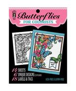 Butterflies Hot Off The Press Colorist Coloring Book 5x6  - £4.84 GBP
