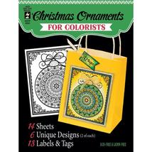 Christmas Ornaments Hot Off The Press Colorist Coloring Book 5x6  - $6.00