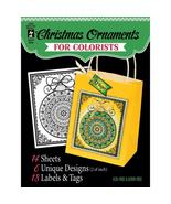 Christmas Ornaments Hot Off The Press Colorist Coloring Book 5x6  - £4.84 GBP