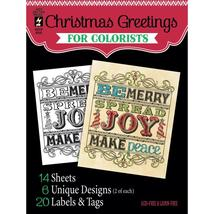 Christmas Greetings Hot Off The Press Colorist Coloring Book 5x6  - $6.00