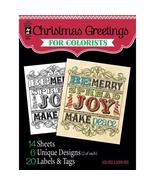 Christmas Greetings Hot Off The Press Colorist Coloring Book 5x6  - £4.84 GBP