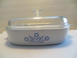 "Vintage Corning Ware Cornflower A-10-B 9 3/4"" Square Baking Casserole Dome Lid - $39.99"