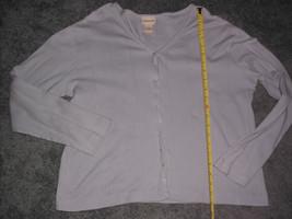 Crossroads  Women's  Button Front Knit Top Blue Large Size L - $14.99