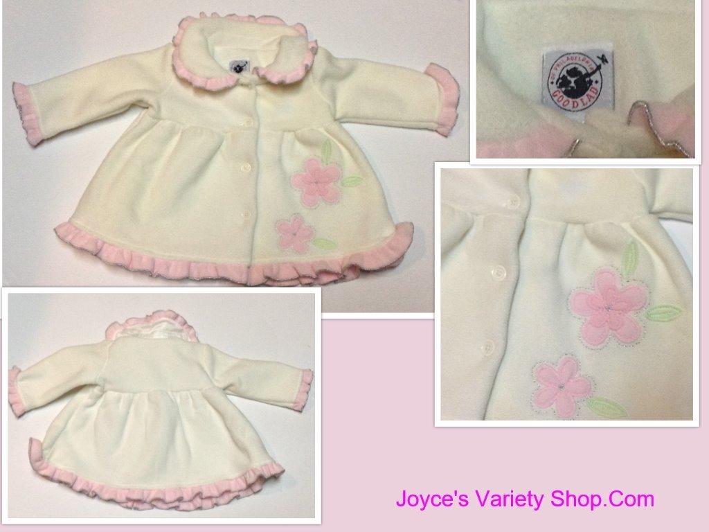 White goodlad infant dress jacket collage