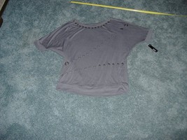 A.N.A DEMOLITION TOP BUTTON TYPE STYLE EMBELLISHMENTS GRAY SIZE XL NWT - $29.99