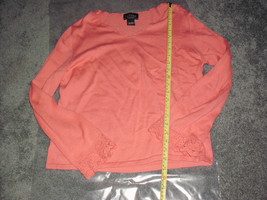 Sonoma Knit Top, Pink Tone, Size  Xl*, Knit Crochet Style Trimmed Sleeves - $14.99
