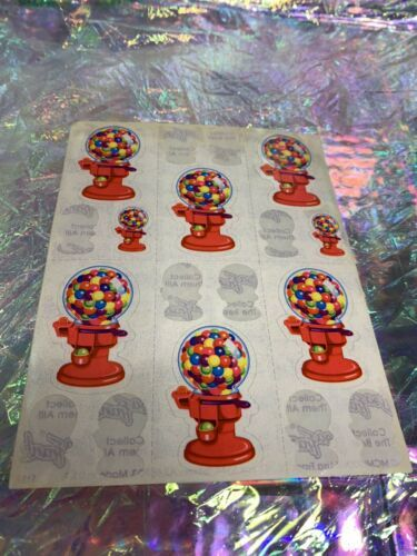 Vintage Lisa Frank Partial Sticker Sheet S157 Damaged But Useable! Cool Rare