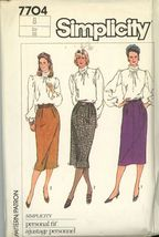 Simplicity 7704 Misses Proportioned Skirts Size 8 uncut - $3.00