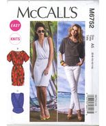 McCall's M6752 Misses Tops and Dresses Size 6,8,10,12,14 UNCUT - $5.50