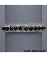 Black Crystal Rhinestone Wedding Prom Formal Bracelet fashion costume je... - $15.83