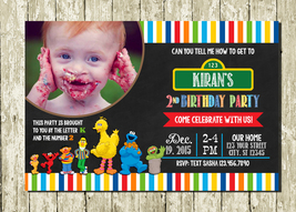 Sesame Street Personalized Printed Photo Birthday Invitations - $10.00