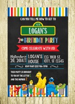 Sesame Street Personalized Printed Birthday Invitations - $10.00