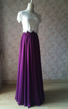 PLUM PURPLE Chiffon Maxi Skirt Purple Wedding Chiffon Skirt (US0-US30) image 5
