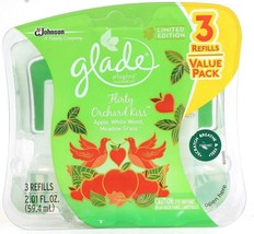 1 Glade PlugIns Limited Edition Flirty Orchard Kiss 3 Ct Scented Oil Refill - $15.99