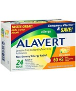 Alavert Allergy 24-Hour Relief 60 Count Citrust Burst Flavor Orally Disi... - $18.31