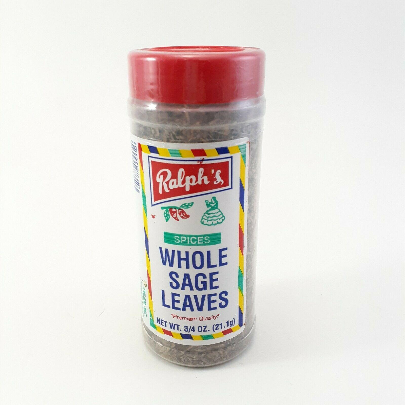 Whole Sage Leaves 3/4 oz Ralph's Spices Premium Quality