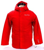 Nautica Red USA Hooded Snorkel Coat Insulated Youth Boy's XL 18/20 INWT - $94.49
