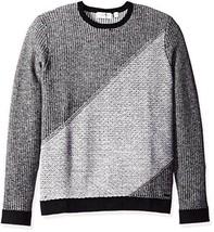 Calvin Klein Men's Lambswool Diagonal Block Checked Crew Neck Sweater - $161.98+