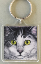 Square Cat Art Keychain - Nemo - $7.00