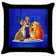 Throw pillow case cover lady and the tramp - $19.50