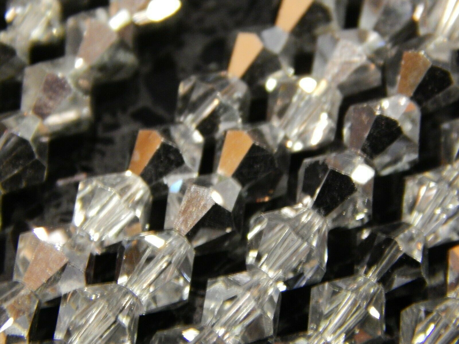 AB Bicone CRYSTAL BEAD STRANDS-CLEAR 1//2 Silver COAT-4 6 /& 8mm-Rondelle
