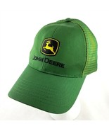 John Deere Green Fabric Mesh Baseball Cap Embroidered Logo Adjustable - £17.87 GBP