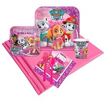Pink Paw Patrol Girl Party Supplies - Party Pack for 8 - £25.74 GBP