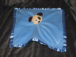 Baby Essentials Blue Satin Puppy Dog Rattle Security Blanket - $34.64