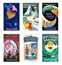 6 Vintage Disneyland Magnets - Set A - $19.99