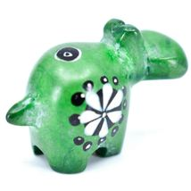 Tabaka Chigware Hand Carved Soapstone Green Hippopotamus Hippo Miniature Figure image 4
