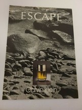 1990's ESCAPE Perfume by CALVIN KLEIN Rocky Beach Scene Vintage PRINT AD - $15.00