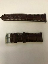 22MM LEATHER WATCH BAND STRAP FOR CITIZEN BL5250-02L LIGHT BROWN WHITE S... - $59.99