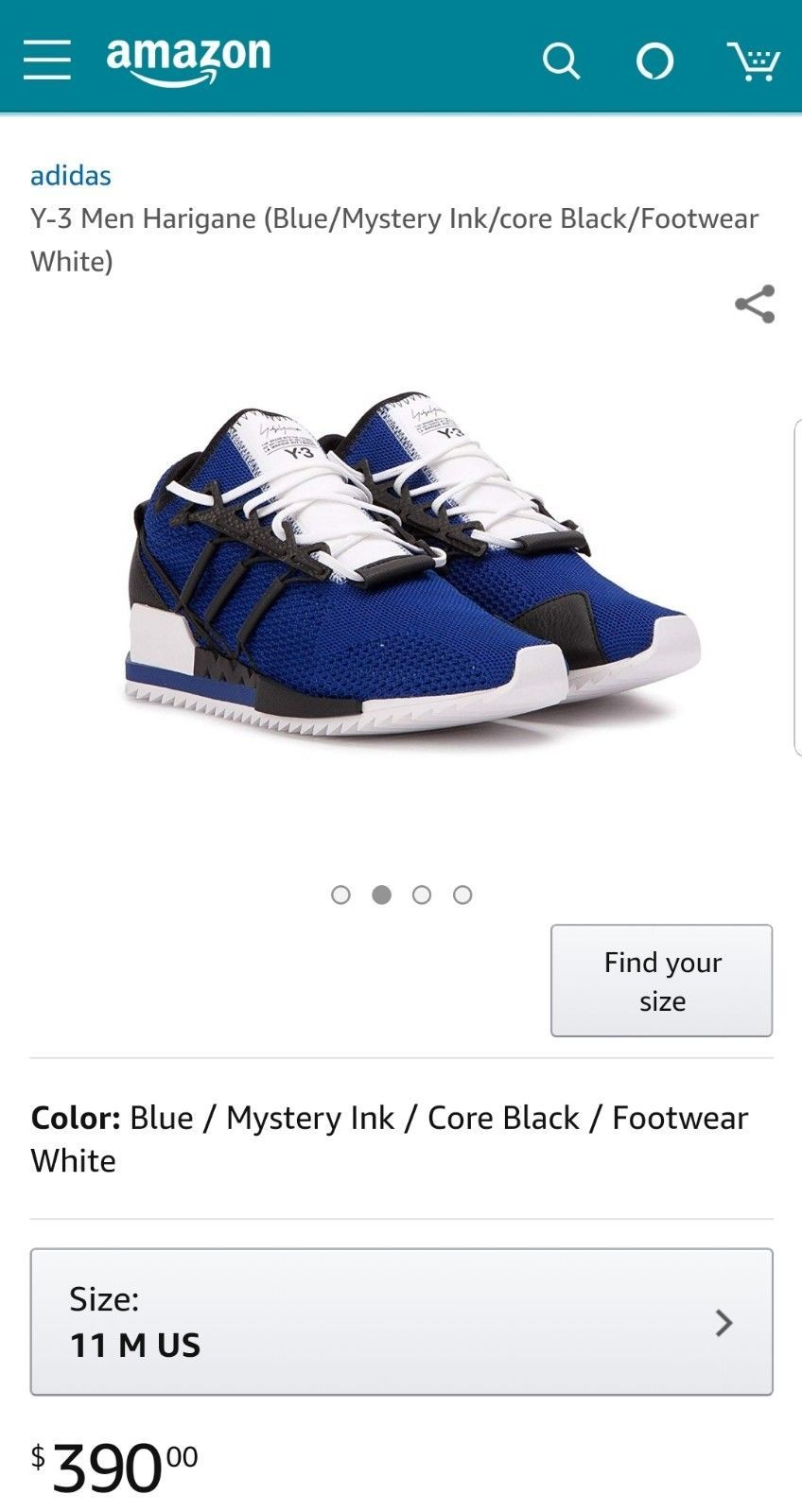 aed0f007c AC7194 Adidas Y-3 Men Harigane blue mystery and 50 similar items. S l1600
