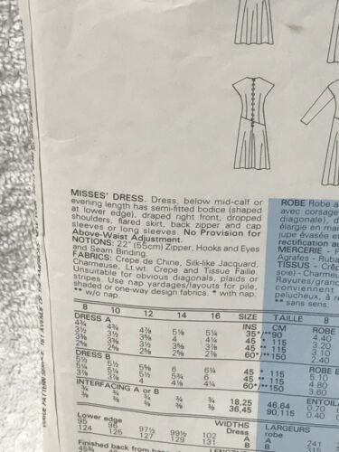 Vogue 9259 Misses Evening Dress Vintage Sewing Pattern image 4