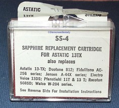 STEREO NEEDLE CARTRIDGE FOR Astatic 13TX 13T 13TB EV 13 33 45 & 78 RPM SS-4 image 2