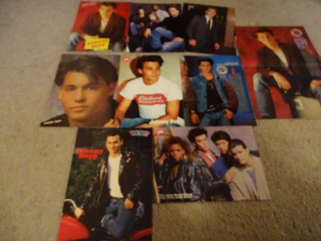 Johnny Depp teen magazine pinup clippings Teen Beat Bop 16 magazine Super Young