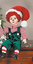 "18"" Porcelain HOLIDAY RAGGEDY  ANDY  NRFB - $14.80"