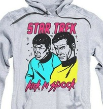 Star Trek Retro Iconic TV series Kirk and Spock animated graphic hoodie CBS1737 image 2