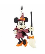 Disney Parks Minnie Mouse Halloween Witch Ornament - $26.71