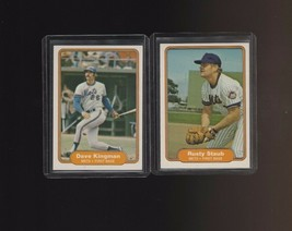 1982 Fleer Mets Dave Kingman Rusty Staub #530 #536 - $1.00