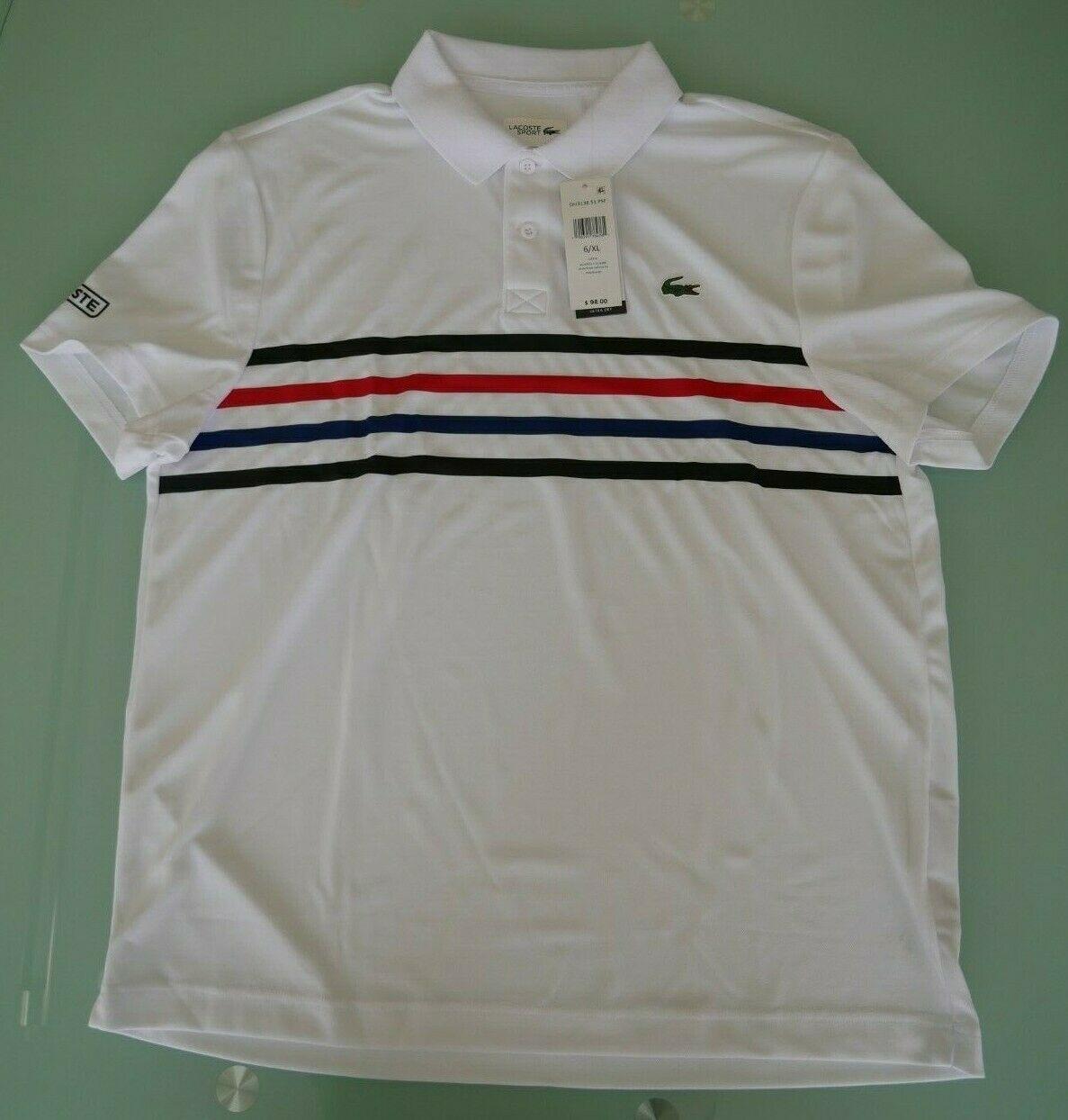 Lacoste Sport Mens Pique Tennis Polo DH3138 51 PSF NWT - $55.00
