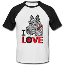 I Love Scottish Terrier - New Cotton Baseball Tshirt - $27.10