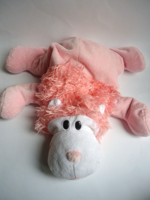 Animal Squishy Pillows : Jay at Play Microbead Pink Lion Plush Stuffed Animal Pillow Squishy - Other