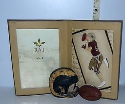 Raj Collection Resin Football Single Picture/Photo Frame Table Top for 4... - $12.40